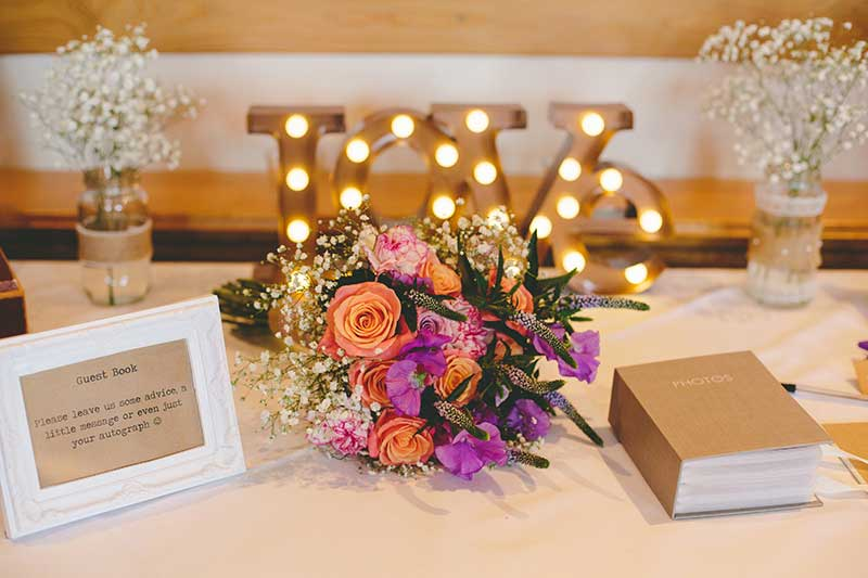 Guest book and photo book for your guests to view