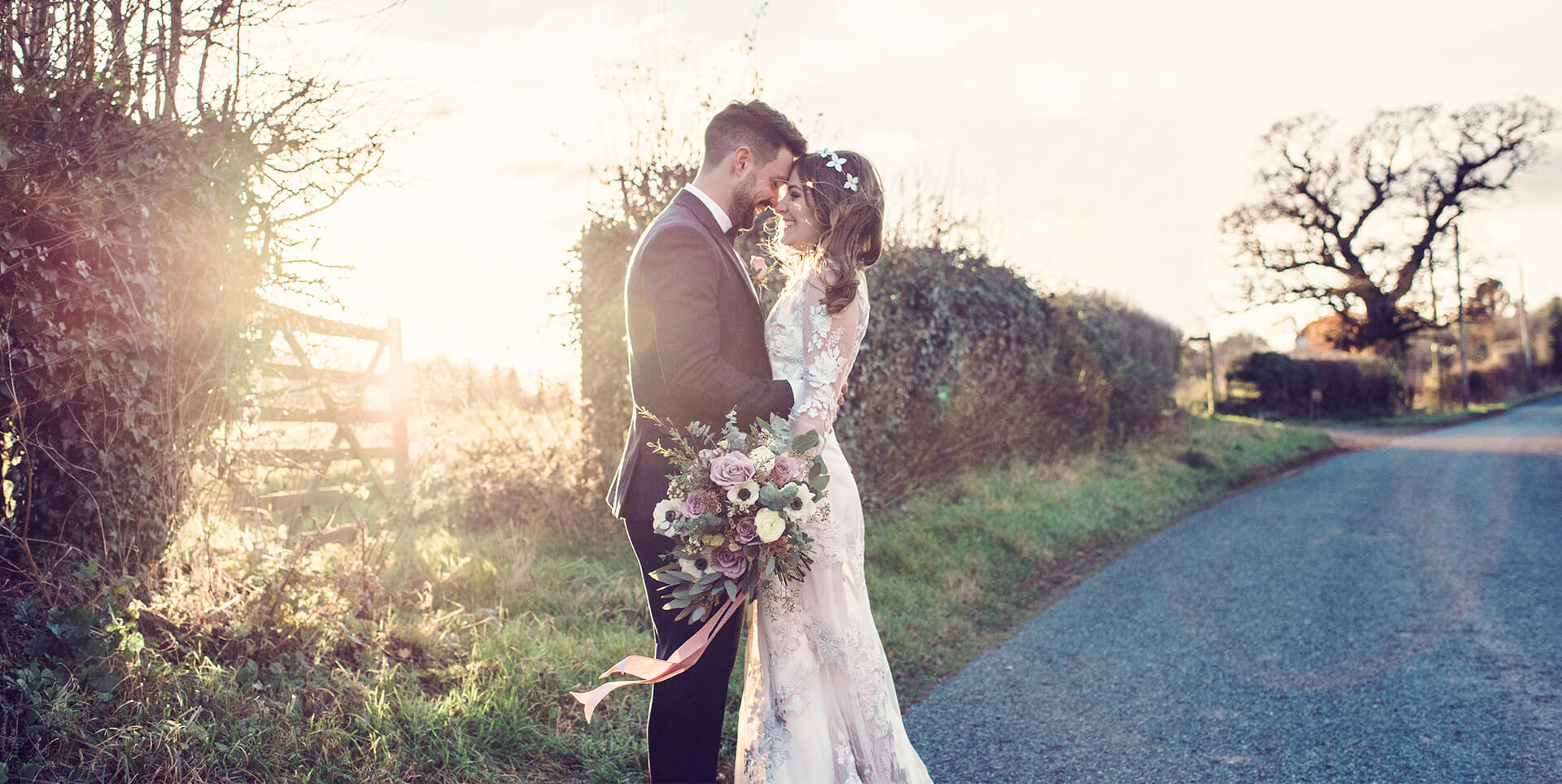 The bride and groom capture a moment together after saying I do at curradine barns in Worcestershire