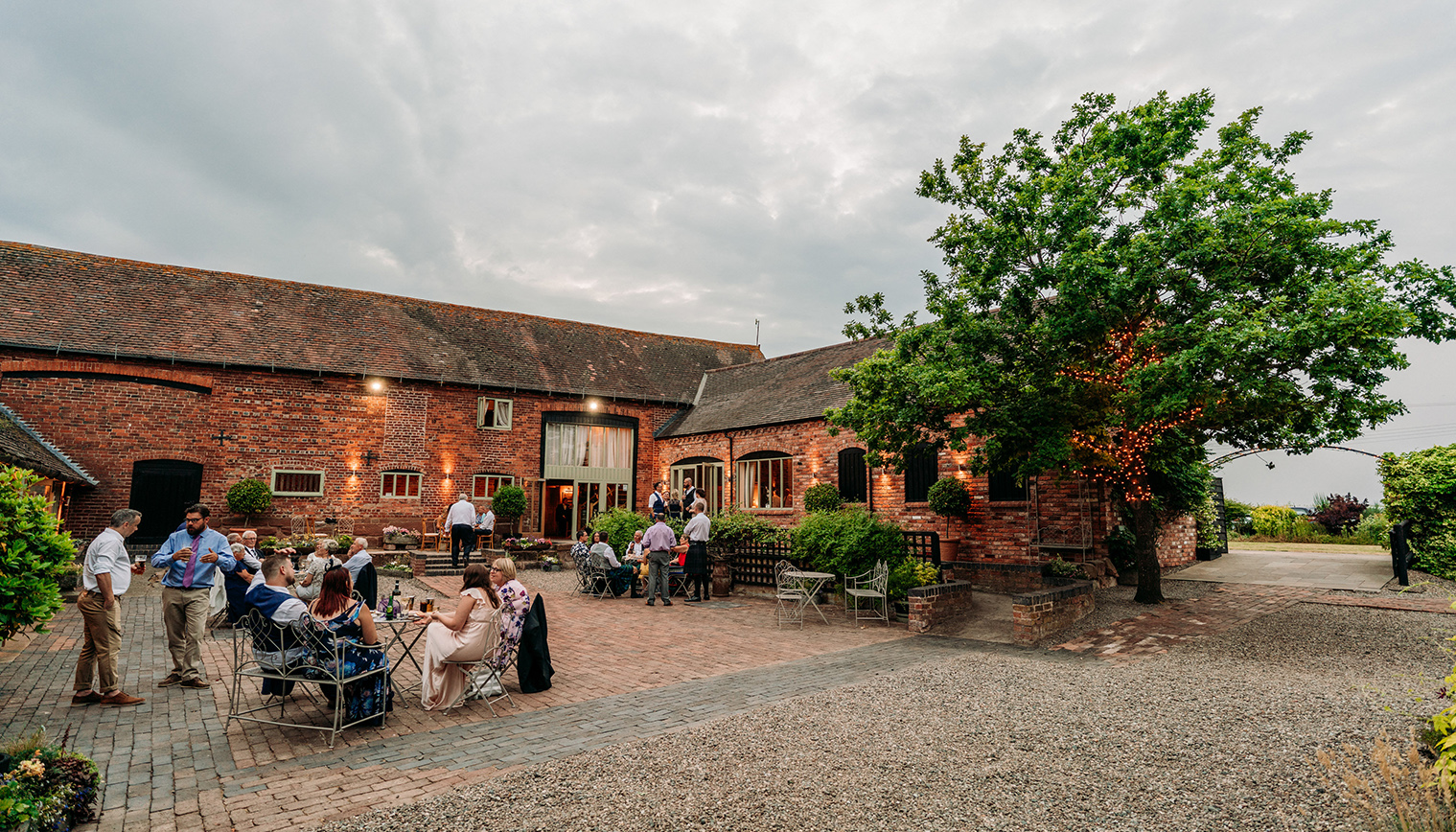 Curradine barns is the perfect location is Worcestershire for a romantic wedding reception