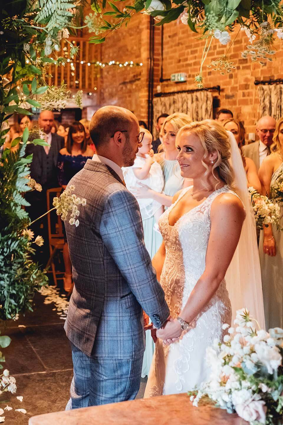 curradine barns granary barn ceremony in summer