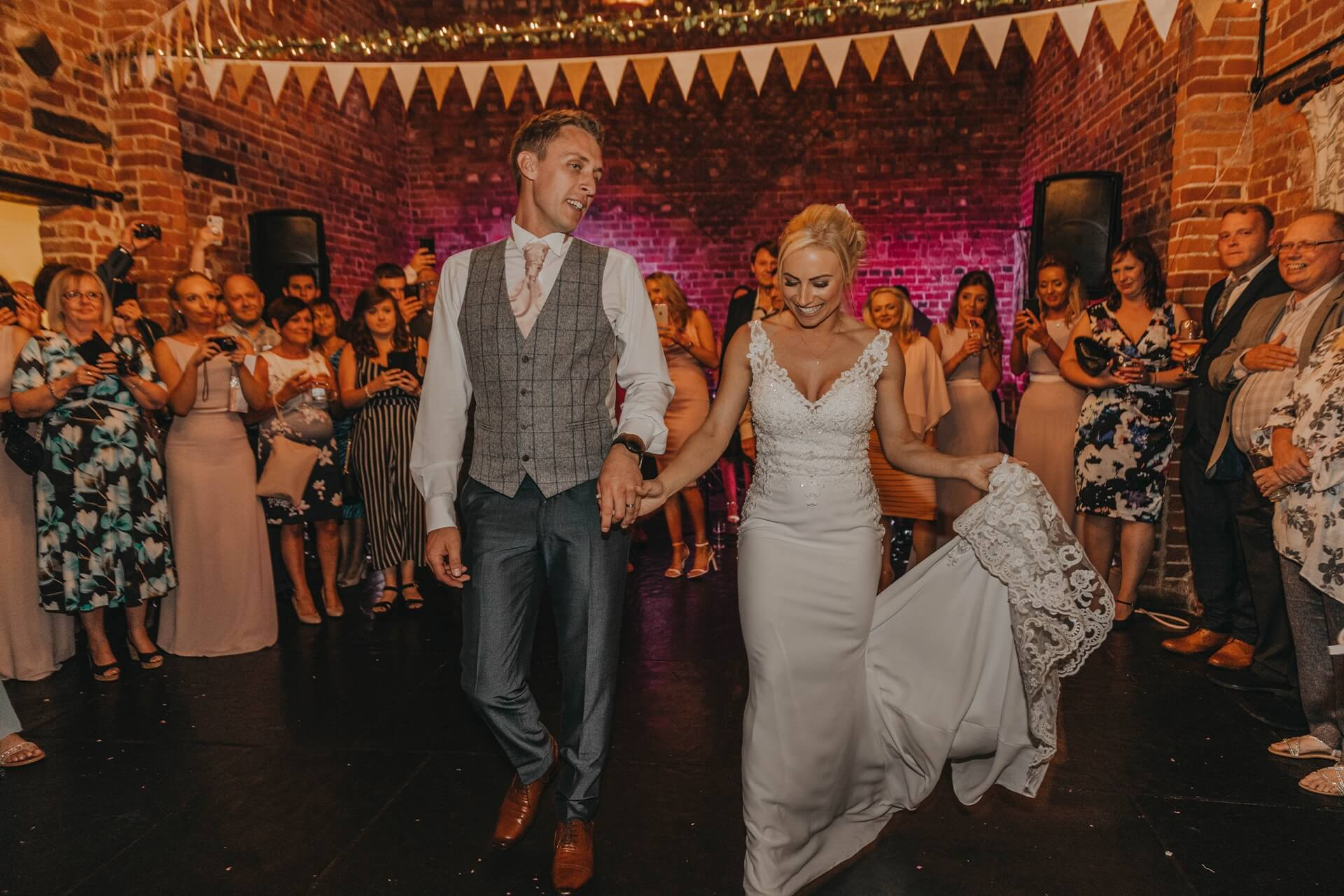 first dance in the granary barn curradine barns nellie photography